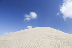 Rippled sand dunes of Maspalomas. Blue sky. Royalty Free Stock Image
