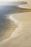 Rippled sand on an island Royalty Free Stock Images