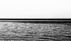 Rippled sea, concept of vastness, sepia hue Stock Image