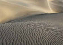 Rippled Sensuality. Ripples and sensuous curves in the dunes of Death Valley Stock Photos