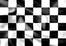 Rippled silk chequered race flag Royalty Free Stock Photo