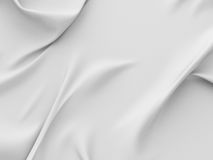 Rippled silk fabric cloth white background Stock Image