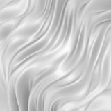 Rippled silk fabric cloth white background Stock Photo