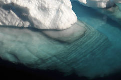 Rippled underwater ice Royalty Free Stock Photography