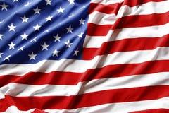 Rippled USA flag stock photography