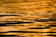 Rippled water surface in sunset light, background Stock Photo