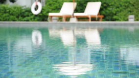 Rippled water in swimming pool Royalty Free Stock Images