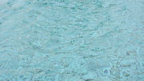 Rippled water in swimming pool stock footage