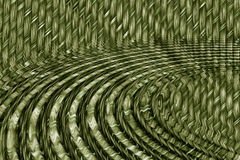 Rippled wicker Stock Image