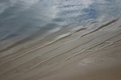 Rippled wide river surface royalty free stock photo