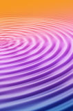 Ripples. A Colourful ripples Illustration, giving the image a purity feel Stock Photo