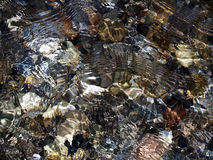 Ripples. Underwater stones in day light Royalty Free Stock Images