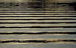 Ripples. This picture was taken just after a boat had passed the ripples were coming to shore Stock Photography