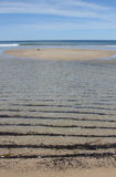 Ripples on the beach Royalty Free Stock Photo