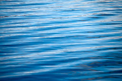 Ripples on a blue water background Stock Images