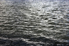 Ripples on the blue water of Moscow river Royalty Free Stock Image