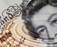 Ripples in British ecconomy. Ripple filter applied to �10 note Stock Image