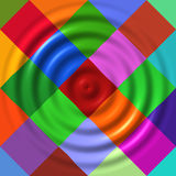 Ripples on colorful diamonds. Abstract art Royalty Free Stock Photo