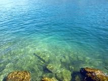 Ripples on deep blue ocean Royalty Free Stock Image