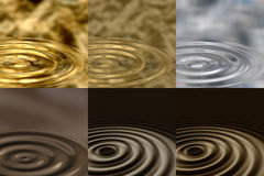 Ripples In Different Liquids Stock Photos