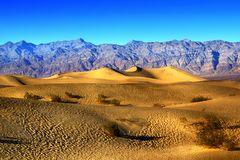 Ripples And Mountain Peaks. Death Valley National Park. California royalty free stock image