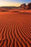 Ripples Of Sand At Wadi Rum Stock Image