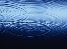 Ripples overlapping on Water close-up Royalty Free Stock Photo