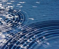 Ripples in a pool. Ripples in a cool blue pool stock photos