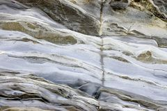 Ripples in Rock. Caused by the sea Royalty Free Stock Images