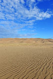 Ripples in Sand Dunes and Blue Sky Stock Photography