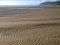 Ripples in sand. At low tide Stock Photo