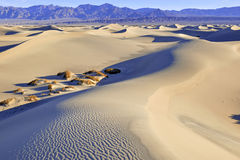 Ripples and Shadows in Sand Dunes, Death Valley, National Park Stock Images