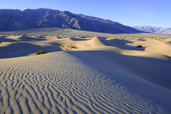Ripples and Shadows in Sand Dunes, Death Valley, National Park Royalty Free Stock Photography