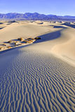 Ripples and Shadows in Sand Dunes, Death Valley, National Park Stock Photos