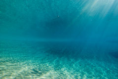 Ripples of sinlight underwater Stock Images