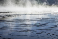 Ripples and Steam in Midway Geyser Basin Stock Image