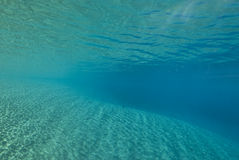 Ripples of sunlight underwater Royalty Free Stock Images