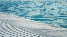 Ripples on the water in the pool stock footage