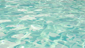 Ripples in the water in the pool. View angle of 45 degrees stock video footage