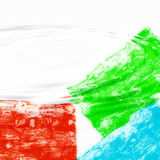 Rippling colors background. Red green and blue ripples on white background Stock Images