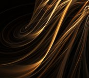 Rippling Gold Abstract Royalty Free Stock Images