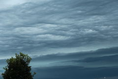 Rippling Stormy Clouds Royalty Free Stock Photos
