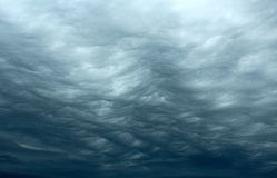 Rippling Stormy Clouds. In the sky royalty free stock image