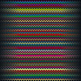 Ripply color stripes. On black background. Vector Illustration Stock Illustration