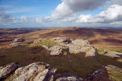 Rippon Tor views Stock Image