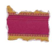 Rippped pakunku papier odizolowywający na biel Zdjęcie Stock