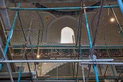 Ripristino dell'interno della moschea Bibi Khanym Immagine Stock Libera da Diritti