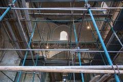 Ripristino dell'interno della moschea Bibi Khanym Immagini Stock Libere da Diritti