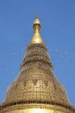 Ripristino della pagoda di Shwedagon Fotografia Stock Libera da Diritti