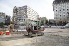 Ripristino di Belgrado immagini stock libere da diritti